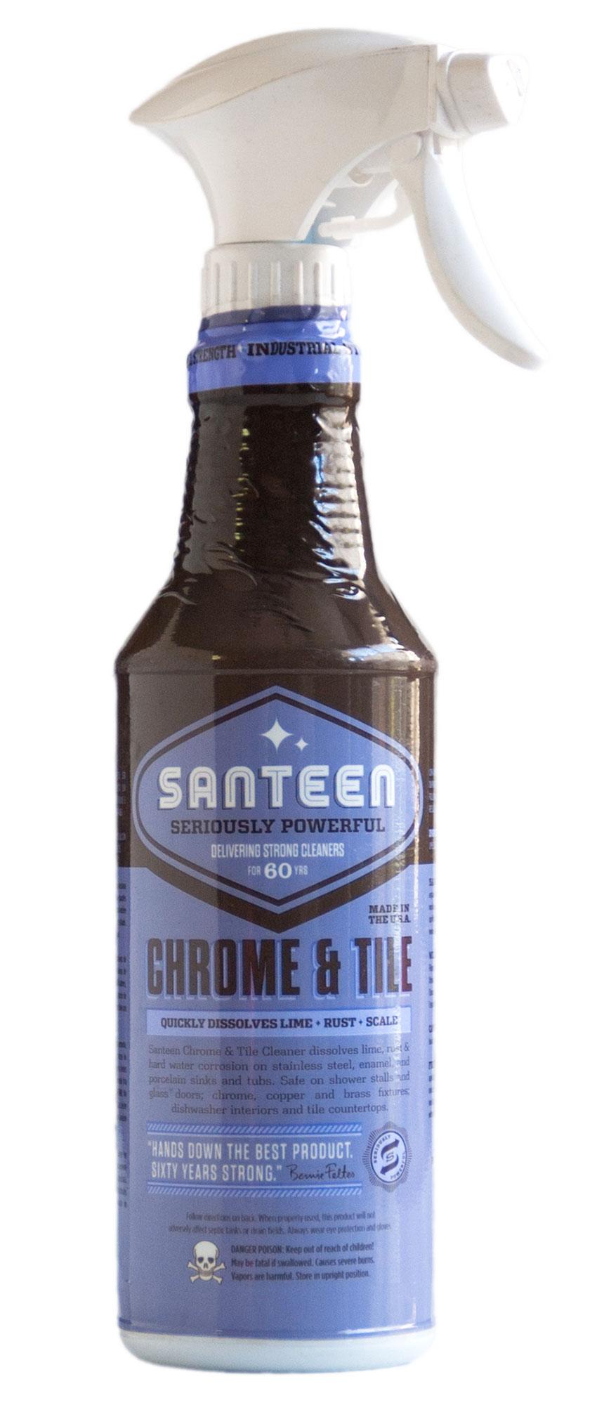Santeen Chrome Amp Tile Cleaner Pro Line Chemical Amp Plastics